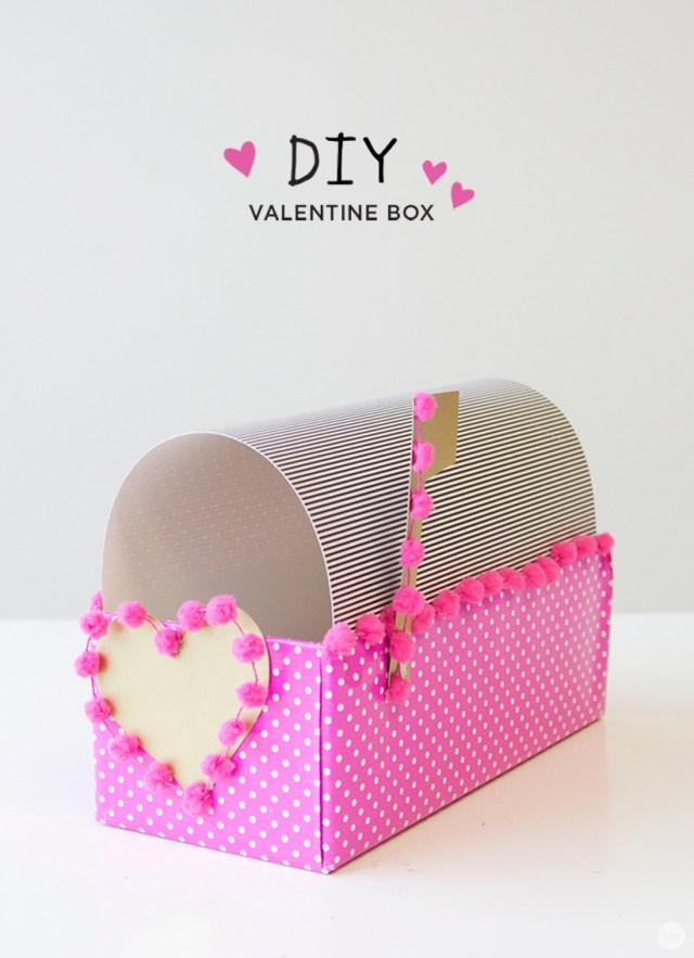 Diy Valentine Box Think Make Share