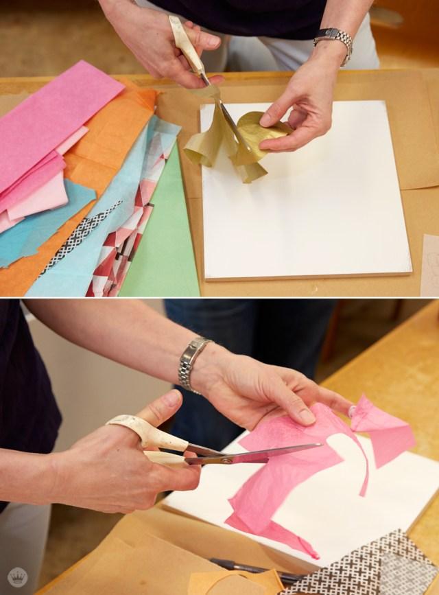 DIY cut paper collage with Hallmark artists | thinkmakeshareblog.com