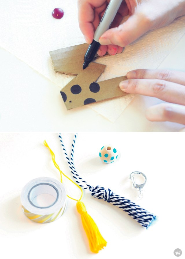 DIY keychains by Hallmark artists | thinkmakeshareblog.com
