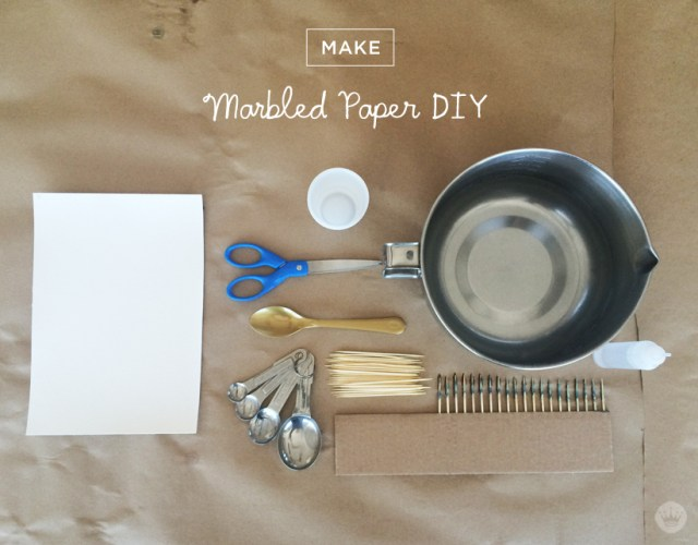 DIY marbled paper with Hallmark Signature | thinkmakeshareblog.com
