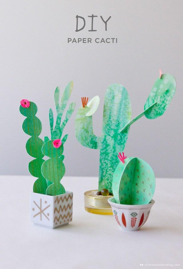 DIY paper cacti from Hallmark artist Allyson Lassiter   thinkmakeshareblog.com