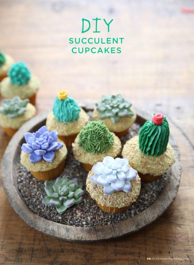 DIY succulent cupcakes with Hallmark artists