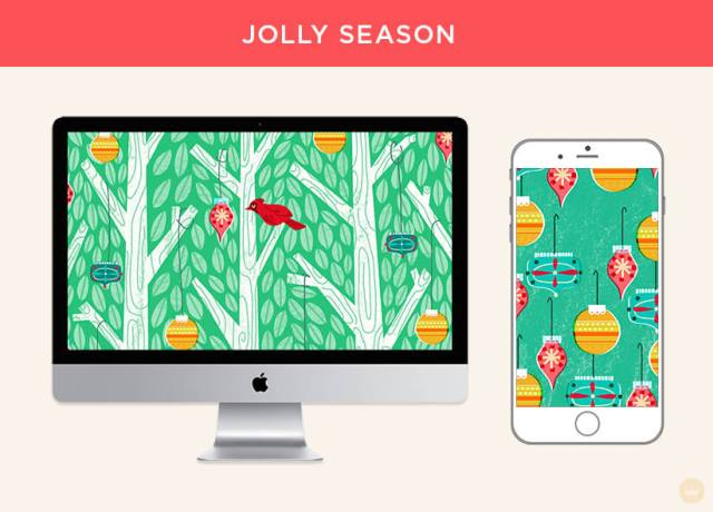 Free December 2018 digital wallpapers: Jolly Season