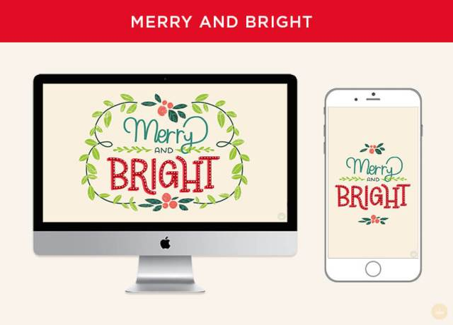 Free December 2018 digital wallpapers: Merry And Bright