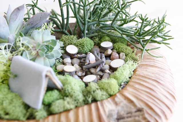 Miniature campsite planter