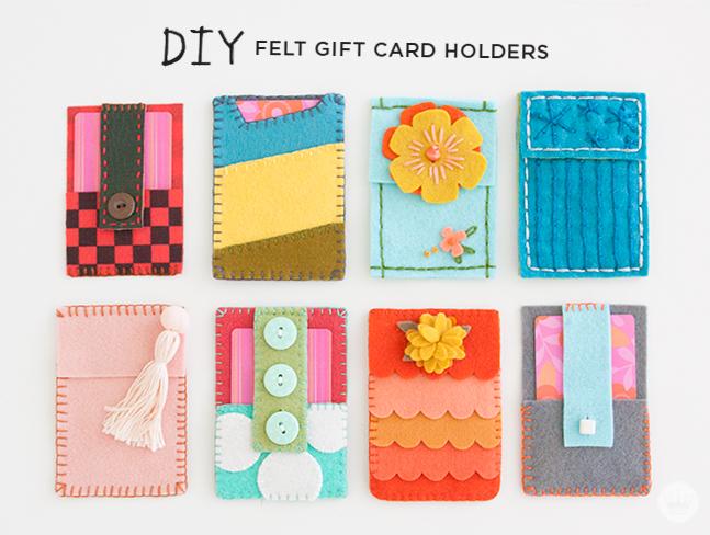 Fresh Felt Gift Card Holders ThinkMakeShare