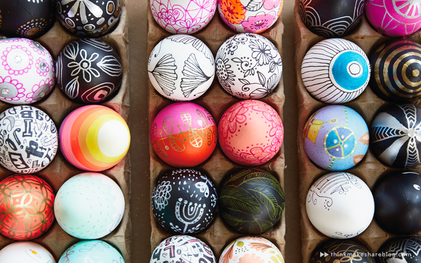 Diy Hand Painted Easter Egg Ideas From Hallmark Artists Think Make Share