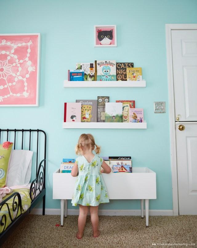 Hallmark designer Tuesday Spray shares her daughter's big girl room | thinkmakeshareblog.com