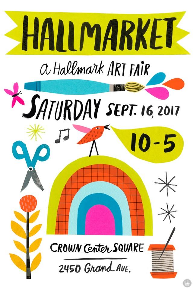 Hallmarket 2017 poster by artist Lynn G.