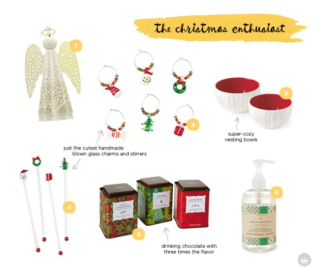 holiday hostess gift guide for the Christmas enthusiast