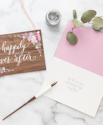 A behind the scenes look at Laura Hooper Calligraphy and her collaboration with Signature.