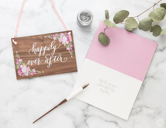 A card from the Laura Hooper Calligraphy collaboration with Signature.