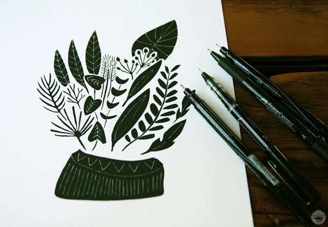 Pen and ink illustration by Leah Duncan