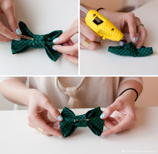 Make your own clip-on bow tie | step three | thinkmakeshareblog.com