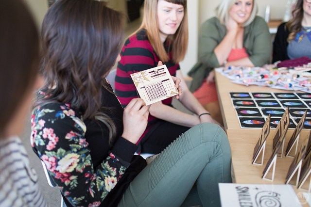 Handmade gift exchange: Laser-cut wooden perpetual calendars