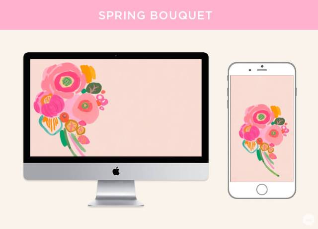 Free March 2019 digital wallpapers: Spring Bouquet