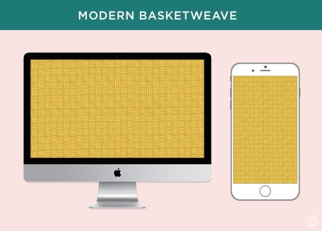 Free digital March wallpapers: Modern Basketweave