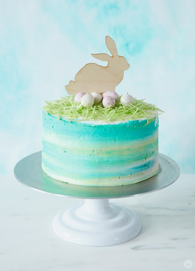 Make A Modern Ombre Easter Cake Think Make Share