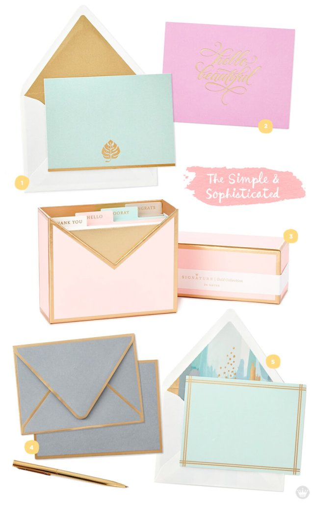 Favorite stationery: five designs from Hallmark.com | thinkmakeshareblog.com