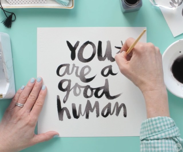 National Handwriting Day AND National Compliment Day brush hand lettering