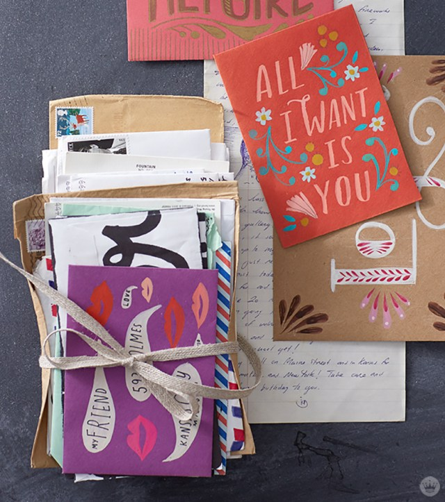 National Card and Letter Writing Month: Bundles of cards and letters