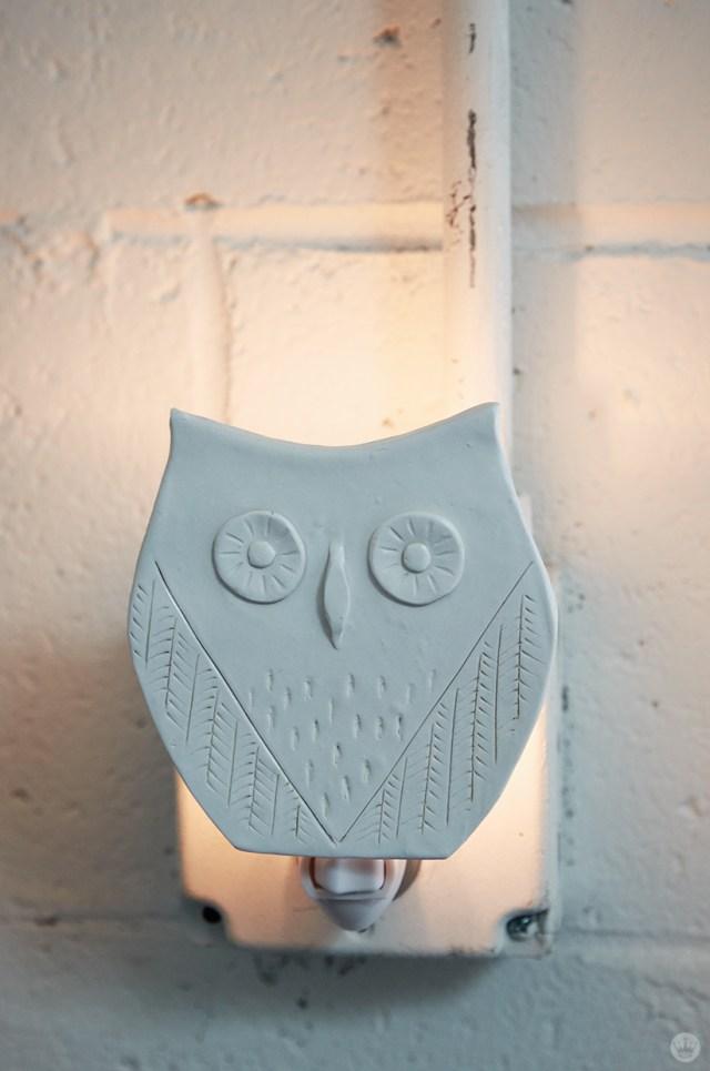 DIY nightlights: White owl design