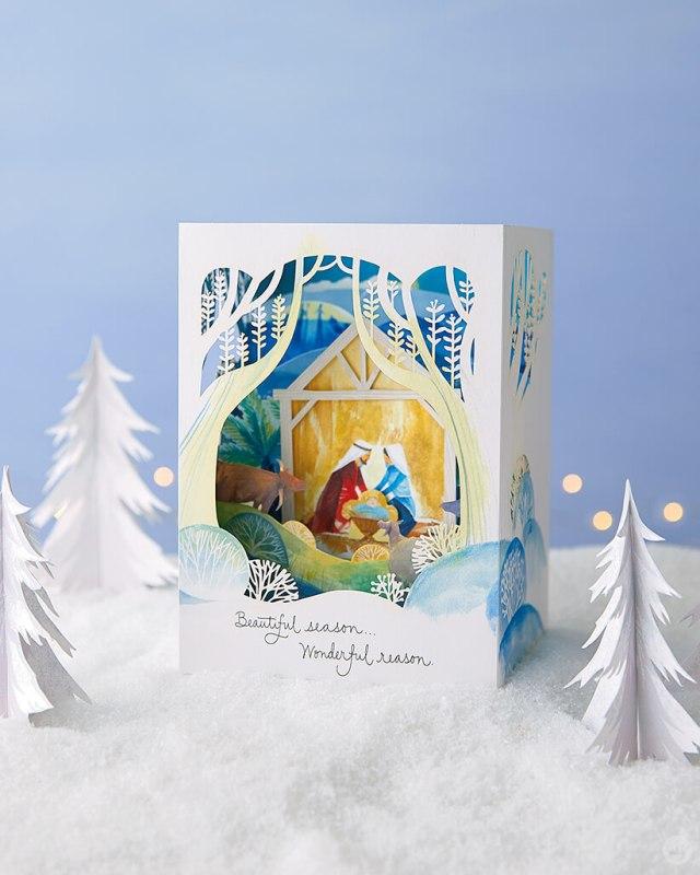 Paper Wonder Card featuring a nativity   thinkmakeshareblog.com