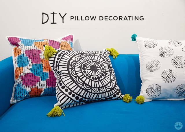Pillow Decorating | thinkmakeshareblog.com