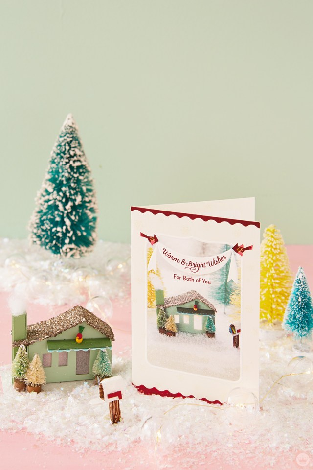Glitter house and the Hallmark card it inspired