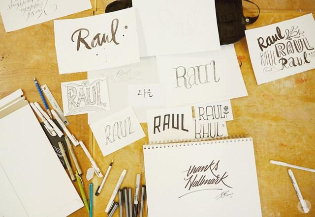 Raul Lettering Workshop | thinkmakeshareblog.com