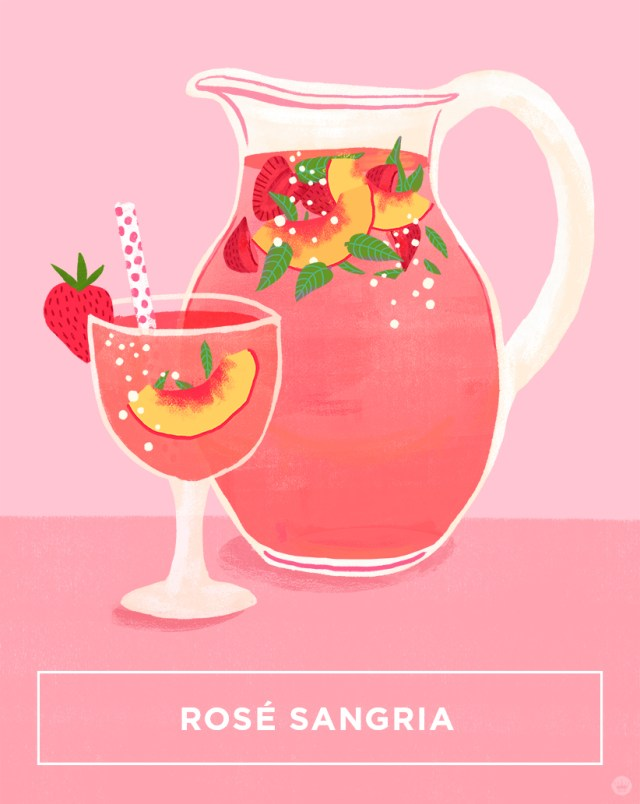 Rose Sangria Recipe | thinkmakeshareblog.com