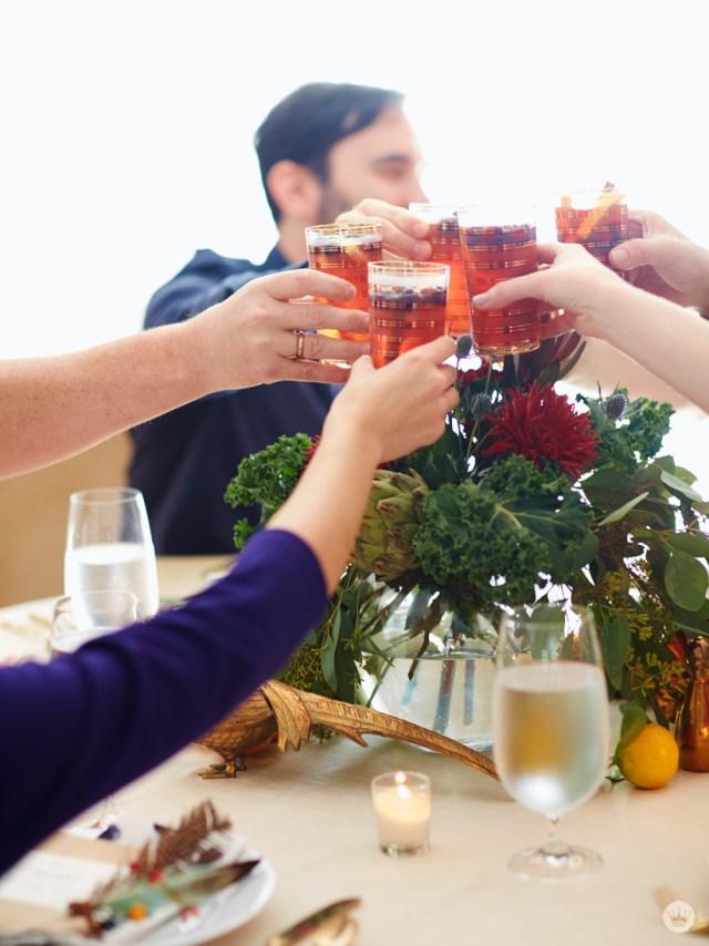Sparkling Cranberry Orange Sangria from Gimme Some Oven | thinkmakeshareblog.com