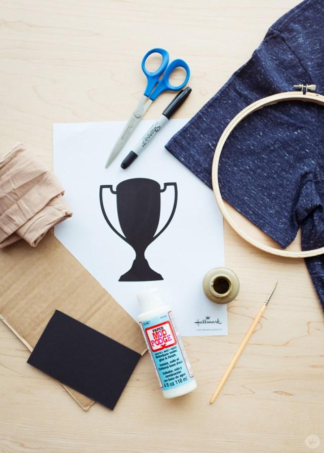 Embroidery hoop screen print supplies