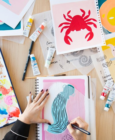 Hallmark artist illustrates zodiac signs | astrology horoscopes | think.make.share