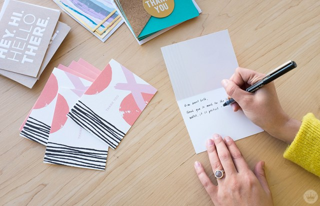 sending thank-you cards