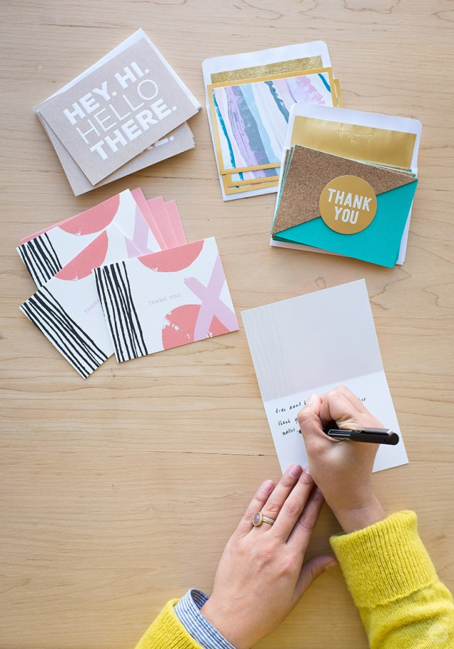 tips for writing and sending thank-you cards