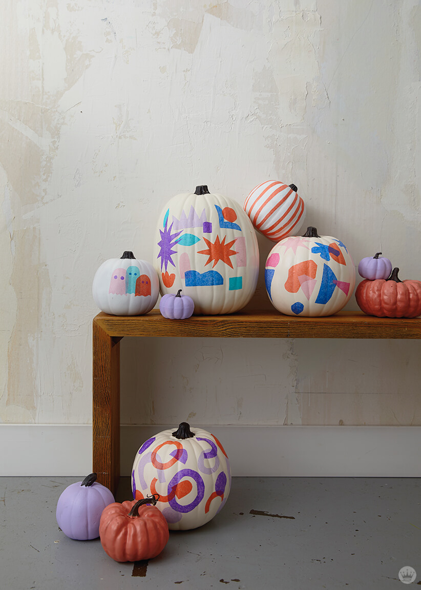 Tissue paper decoupage pumpkins, for gourdness sake , Think