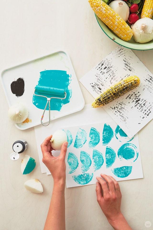 Fruit and Vegetable Stamping | thinkmakeshareblog.com