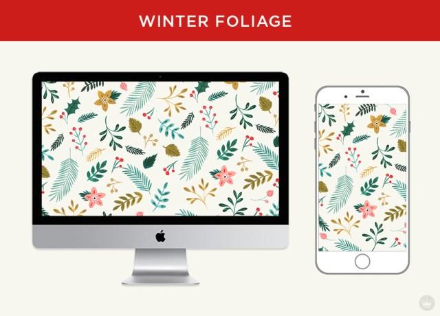 Free downloadable winter foliage digital wallpapers