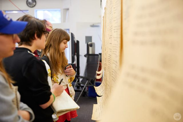 Kansas City art institute students look at the wishes from interviews