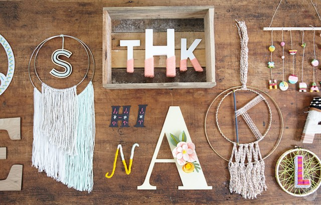 Decorated letters | thinkmakeshareblog.com