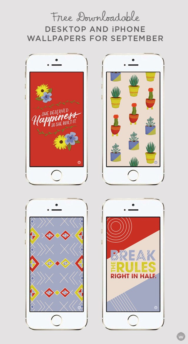 Download these free September digital wallpapers for desktop and iphone | thinkmakeshareblog.com