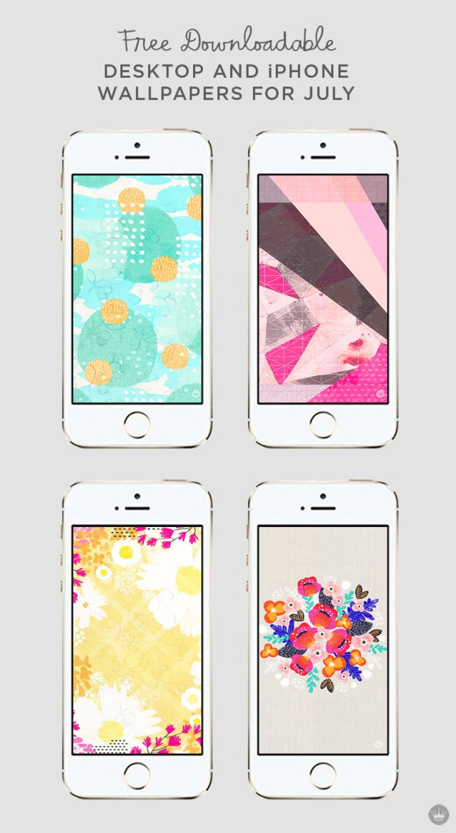 Download these free July digital wallpapers for desktop and iphone | thinkmakeshareblog.com