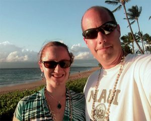 The wife and me in Hawaii