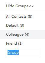nome gruppo di contatto
