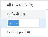 rename contacts group