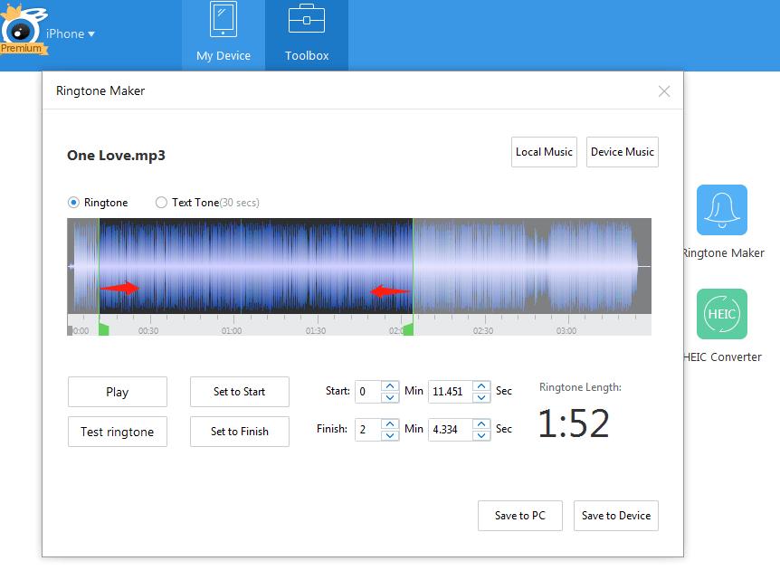 Personalizza le suonerie con i brani preferiti5