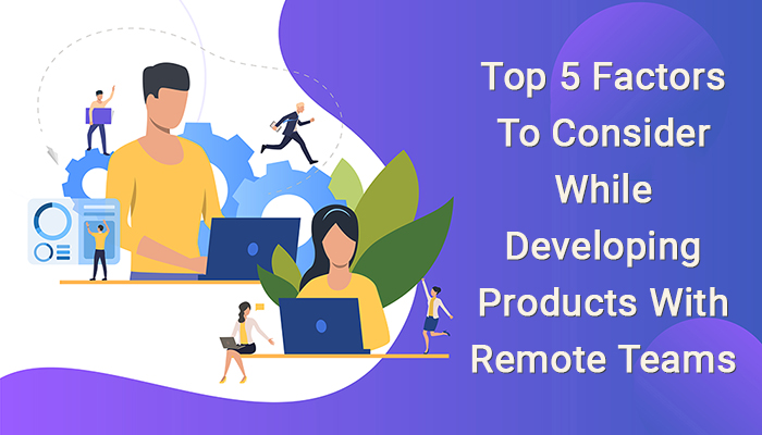 Top 5 Factors To Consider While Developing Products With Remote Teams
