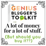 Genius BLOGGER'S TOOLKIT Review 2019 - No B.S. You're Too Smart For That.