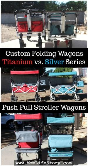custom folding wagons titanium vs Silver series best push pull wagon